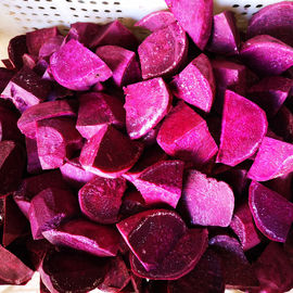 China Fresh IQF Frozen Vegetables , Snap Frozen Natural Sweet Purple Potatoes factory