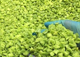 Diced IQF Frozen Fresh Green Pepper With Delicious Taste OEM Service Available