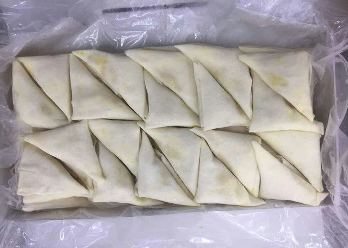 Triangle - Shaped Frozen Spring Rolls , Frozen Vegetable Samosa Chinese Snack supplier