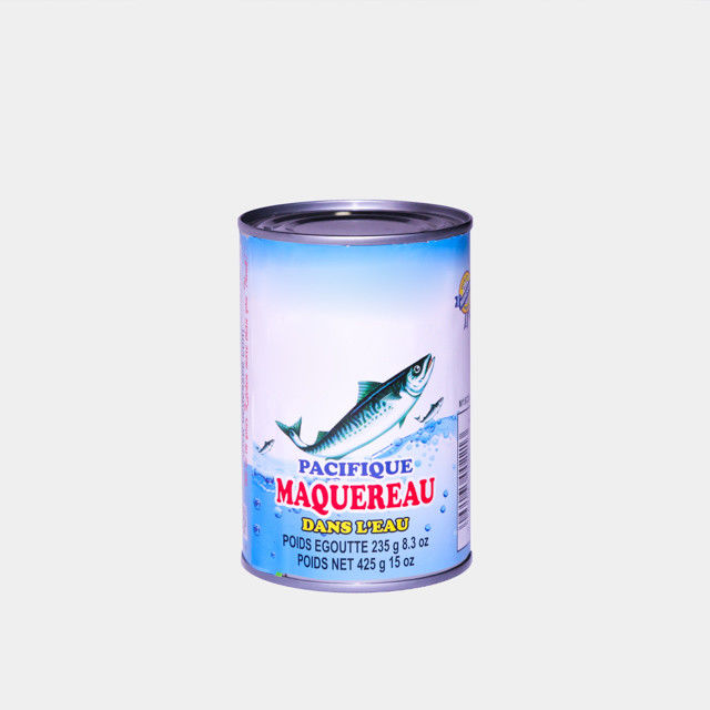 Salty Flavor Canned Fish , Mackerel Fish Canned Food 3 - 5pcs 425g / 235g