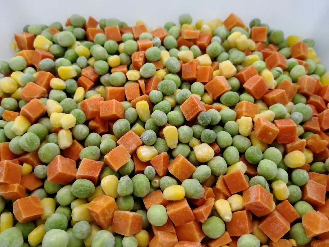 10*10mm Diced IQF Frozen Mixed Vegetables FDA / ISO Certificated supplier