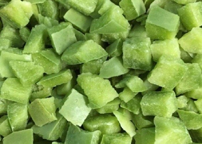 Wholesale Chopped Individually Flash IQF Frozen Green Bell Pepper Diced/Green Pepper Cubes